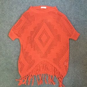 Rust colored knit pullover top